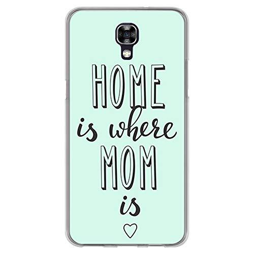BJJ SHOP Transparent Hülle für [ LG X Screen ], Flexible Silikonhülle, Design: Motivierende Phrase, Home is Where mom is