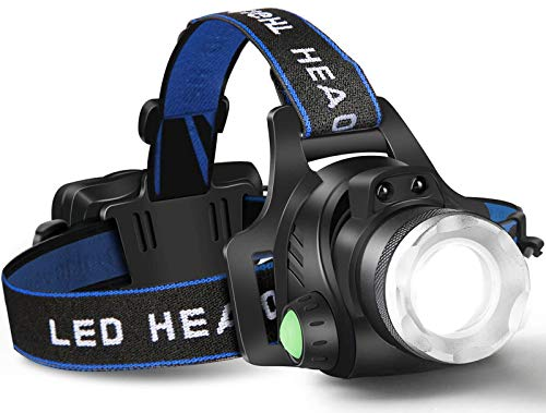 Headlamp Flashlight, USB Rechargeable Led Head Lamp,Waterproof T6 Headlight with 4 Modes and Adjustable Headband, Perfect for Camping, Hiking, Hunting