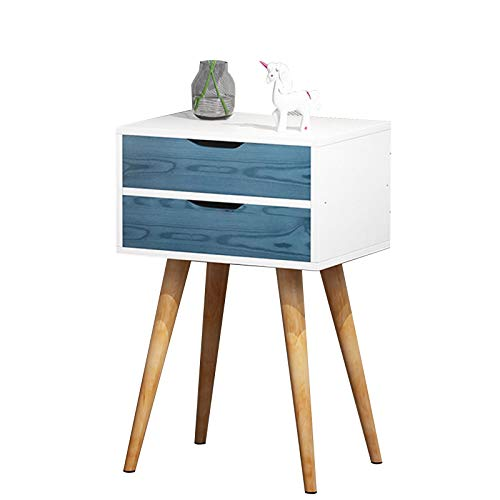 MEFKY Nightstand Table Side End Table with Wooden Legs and Storage Drawer Bedside Table for Decoration Bedside Storage Cabinet In Strong Wood (Color : White, Size : 61cm)