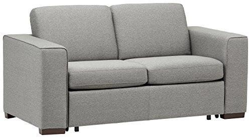 Amazon Marke -Rivet Elliot Sofabett, leicht ausklappbar und modern, B 180cm, Grau