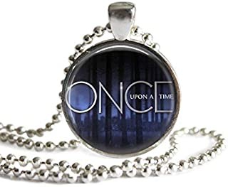 Once Upon A Time 1 Inch Silver Plated Pendant Necklace or Keychain