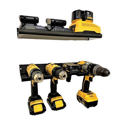 BEHR-ENGR Power Tool Organizer - Wall Mountable Drill Storage Charging Station Shelf Drill Rack wShelf