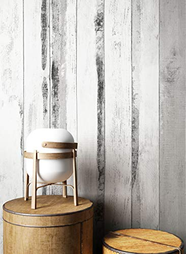 NEWROOM Holztapete Tapete Grau Holzbalken Holz Landhaus Vliestapete Schwarz Vlies Holztapete Holzwand Naturholz Holzpaneele Modern inkl. Tapezier Ratgeber