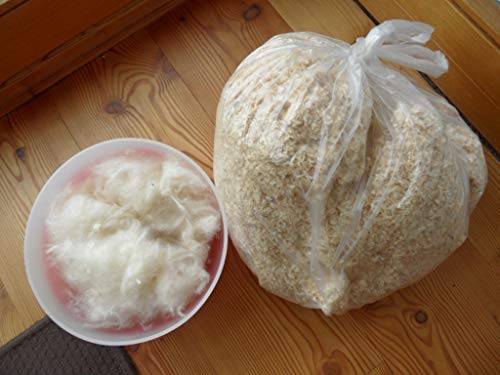 Qualität aus Niederbayern ARBRIKADREX 🐝Nachfüllsatz Hummelhaus Hummelkasten Hummelvilla Hummel Nistkasten Nistmaterial Wechselsatz Kapok und Späne