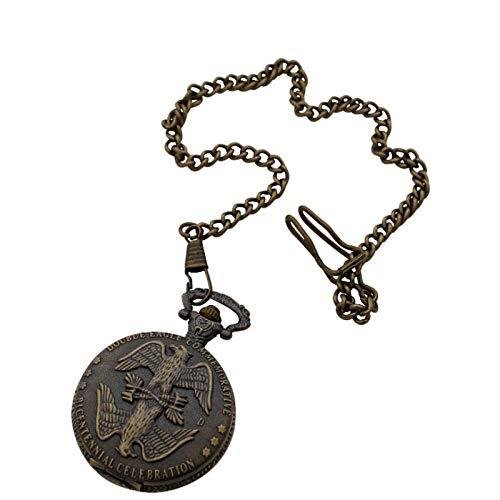 Nwarmsouth Reloj de Enfermera Fob,Reloj de Bolsillo Eagle Vintage, Reloj de Pulsera de Mezclilla de Bronce,médico Reloj de Bolsillo de Cuarzo