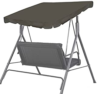 """BenefitUSA Patio Outdoor 65""""x45"""" Swing Canopy Replacement Porch Top Cover Seat Furniture (Taupe)"""
