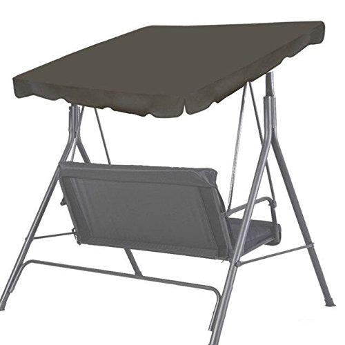 BenefitUSA Canopy Only 65'x45' Patio Swing Canopy Replacement Porch Top Cover Outdoor Seat Furniture (Taupe)