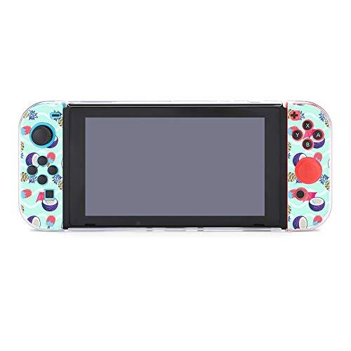 Hülle für Nintendo Switch Kokosnuss Ananas und Eis Fünfteiliges Set Schutzhülle Case Kompatibel mit Nintendo Switch Spielekonsole