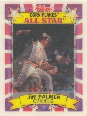 1992 Kellogg's Corn Flakes Jim Palmer All Star