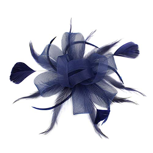 dressfan Diadema Fascinator Sombrero de coctel Sombrero de malla de malla de pelo Sombrero Sombrero Banquete Boda Pasadores