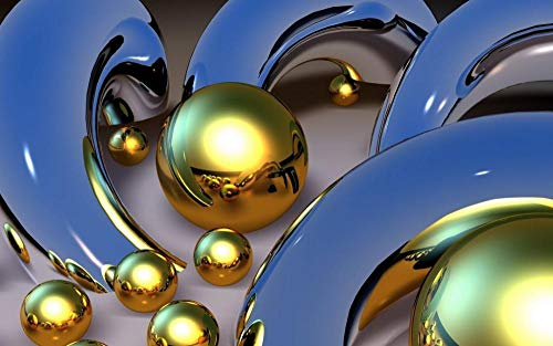 Jigsaws Puzzel,Puzzels Gouden Bol Blauwe Glazen Buis,Diy Houten Puzzle 300 Stukjes, Legpuzzels Voor Volwassen Kinderspeelgoed (38 * 26Cm)