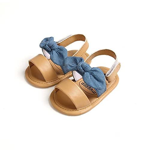 NIDONE La niña de los Zapatos Sandalias Infantiles Muchacha Primer Walker Suavemente único de Verano Azul Bowknot para 12-18M del niño