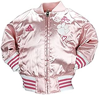 adidas NCAA Little Girls Infants and Toddlers Pink Satin Cheer Jacket, Team Options