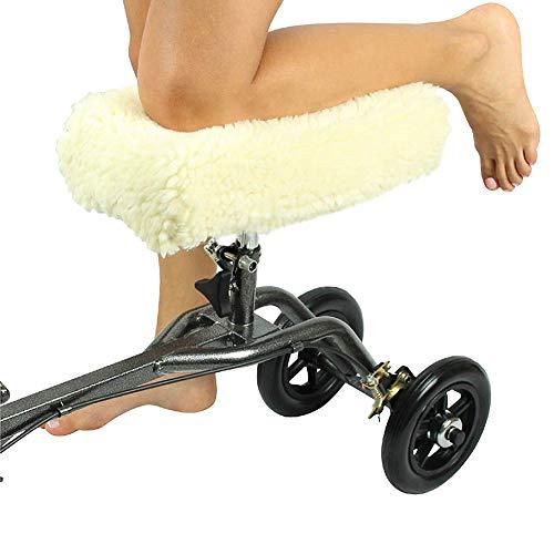 Kenyaw Knie Walking Aid Pad Cover, Pluche Synthetische Faux Schapenvacht Roller Kussen Accessoire Voor Knierollen