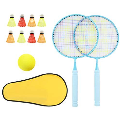 Toyvian Raquete de badminton, 10 peças, raquete de tênis para atividades ao ar livre, brinquedo de atividades internas, presente para crianças, brincadeiras em família