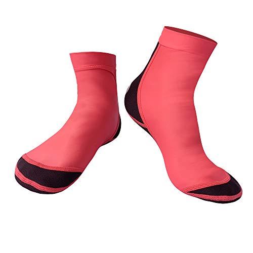 GYFY Männer und Frauen Tauchen Socken 1,5MM Schnorchelsocken Lycra Rutschfeste Kratz-sichere Strandschwimmsocken,Purple,S