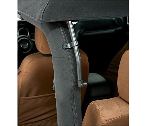 Bestop 54922-35 Black Diamond Trektop NX Glide Convertible Soft Top for 07-17 Wrangler 2-Door