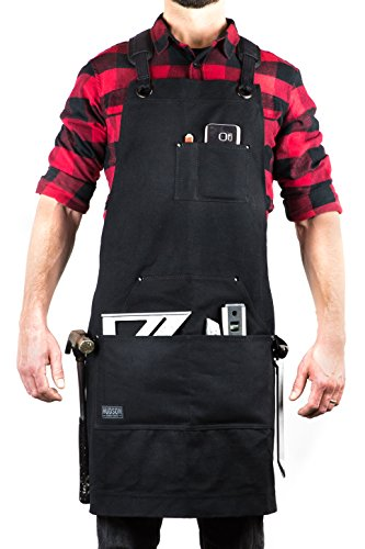 Hudson Durable Goods - Deluxe Edition - Waxed Canvas Tool Apron - Black