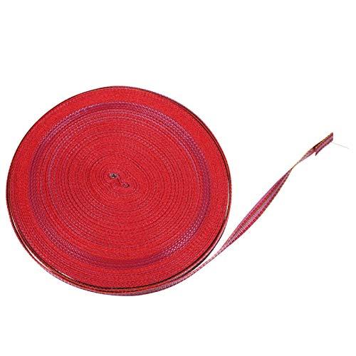 Scicalife Sangle de Sangle de Polyester Fil de Cordon de Serrage de Fibre Reliure Robuste Cordon de Sangle Corde Plate pour Tabouret Pliant