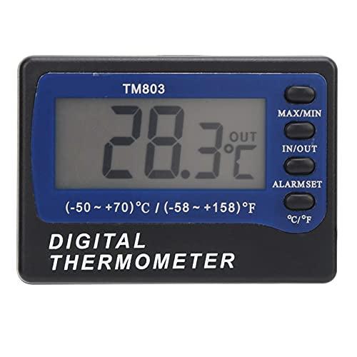 Rodi Medidor de Temperatura, Pantalla Grande Probador de Temperatura con función de Alarma de Cable Largo para Industrias de refrigeración para acuarios para botiquines