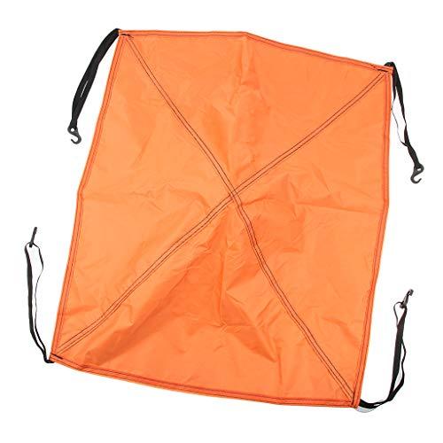 Baoblaze Capot pour Tente Bâche CouvertureFixarion Reparation Tente Camping Pêche - Orange, 56cm