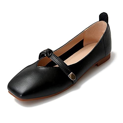Zapatos Planos Bailarinas Mujer Cómodo Slip Ons Ballet Plana Invitada Boda Cómodas...