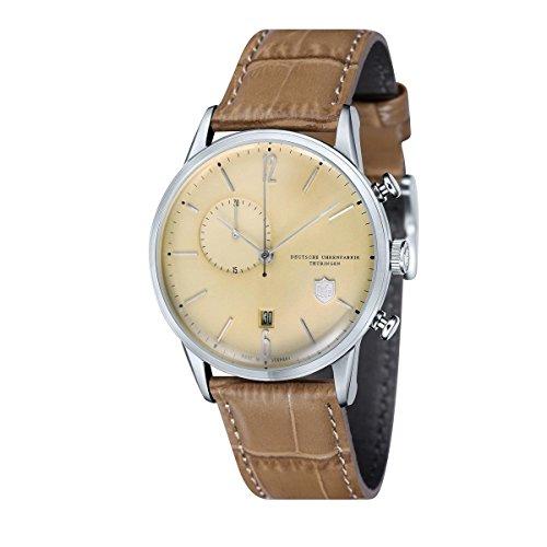 Dufa Deutsche Uhrenfabrik Orologio Cronografo Quarzo Unisex con Cinturino in Pelle DF-9012-01