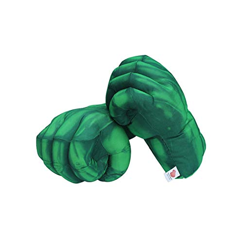 Htipdfg Juguete de Peluche 13'33cm Hulk Smash Hands + Spider-Man Gloves Guantes de Felpa Spiderman Performing Props Toys Gran Regalo (Color : Green)