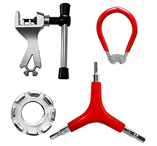 LETUSPORT Bike Spoke Wrench Bicycle Rim Adjustment Truing Tool Set of 4