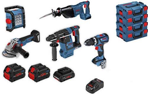 Bosch 5 Akku-Geräte: GSB 18V-60C GWS 18V-10 C GBH 18V-26 GSA 18 V-LI GLI 18V-1200C