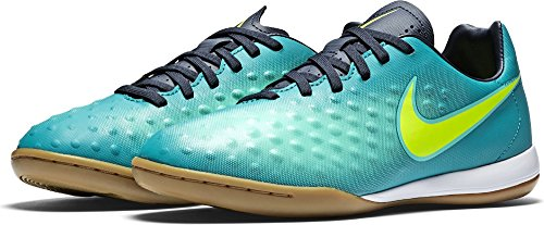 Nike - Botas de fútbol para niño RIO TEAL/VOLT-OBSIDIAN-CLEAR J