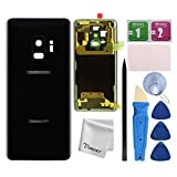 Vimour Back Cover Glass Replacement for Samsung Galaxy S9 G960U All Carriers with Pre-Installed Camera Lens, All The Adhesive and Professional Repair Tool Kits (Midnight Black)