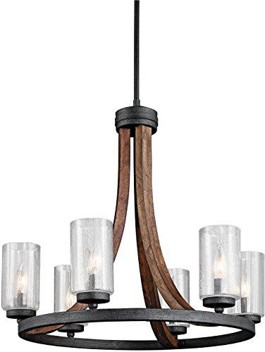 Kichler 43193AUB, Grand Bank Candle Chandelier Light, 6 Light, 450 Watts, Auburn Stained