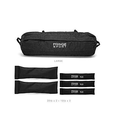 OneFitWonder Heavy Duty Sandbag Trainer System + Filler Bags for Weighted Training, Fitness, Exercise, Conditioning, Crossfit Workouts/Easily Change Weight with Filler Bags + Comfortably Fits 30-100lb