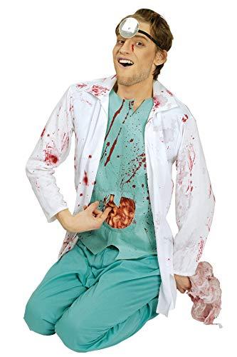 K31250616-50-52 - Disfraz de zombi para hombre, color verde y blanco, talla 50-52