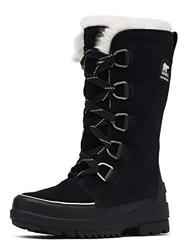 Sorel - Women's Tivoli IV Tall Waterproof Insulated Winter Boot with Faux Fur Collar, Black, 9 M US