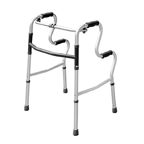 Lightweight Hi-Riser Walking Frame/Folding Zimmer Walker - Adjustable Height