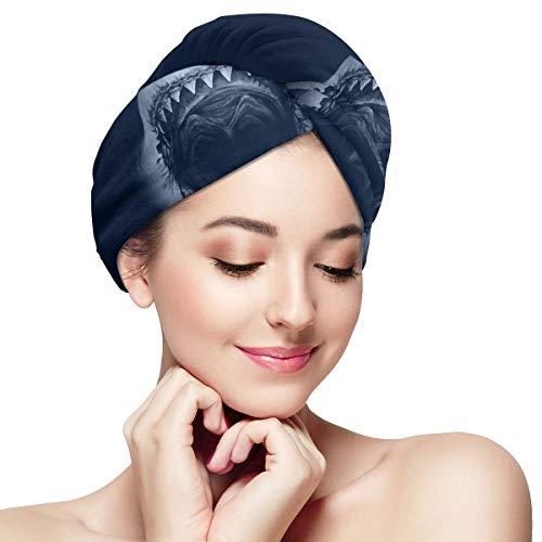 Zhgrong Cool Shark Haartrockner Handtücher Turban für nasses Haar, saugfähige Haartrockner Handtuchwickel