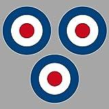 Aufkleber Sticker 4cm Target Mod UK GB England Roller Vespa Symbol Zeichen Auto Motorrad (3)