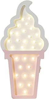 Ice cream Valentine Romance Atmosphere Light , Party Wedding Birthday Party Decoration Kids' Room Battery Operated LED Night Lights (White and Pink)