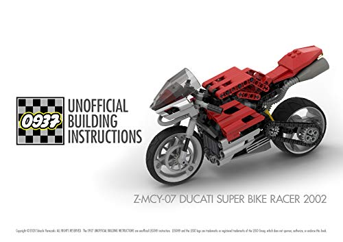 0937 UNOFFICIAL BUILDING INSTRUCTIONS, Z-MCY-07 DUCATI SUPER BIKE RACER 2002 (English Edition)