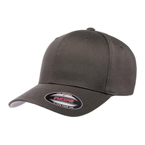 Flexfit Herren Men's Athletic Baseball Fitted Cap Kappe, dunkelgrau, L/XL