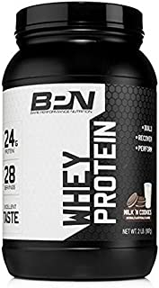 Bare Performance Nutrition, Whey Protein Powder, Meal Replacement, 25G of Protein, Excellent Taste & Low Carbohydrates, 88% Whey Protein & 12% Casein Protein (Milk N' Cookies)