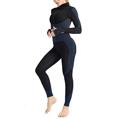 IceyZoey 2 Piece Tracksuit Set Workout Women Seamless High Waist Long Sleeve