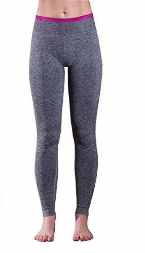 EmpireAthletics – Pantaloni yoga da donna extra morbidi e sottili con fascia elastica Taglia XS – leggings, pants, sport, work out, pantaloni da corsa in GRIGIO-ROSA