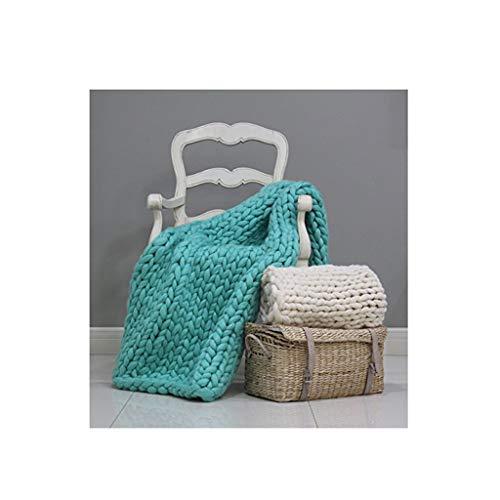 Hcxbb-g Werpen Chunky Knit deken, blokkerende knit-sofa-deken, gebreide deken, handgemaakte werp, slaapkamerdecoratie, deken, supergroot bed-sofa-deken, kleur: kerstgroen, maat: 200 * 200 cm