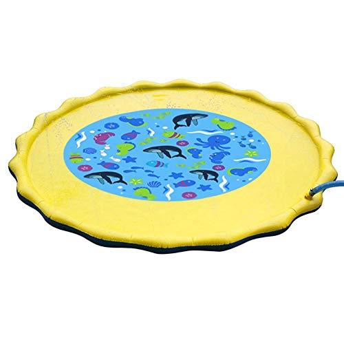 Rubyu Splash Pad - Juguete de agua para exteriores, aspersor hinchable para piscina, juguete para niños, spray de agua, juguete para niños pequeños, 3, 4, 5, 6