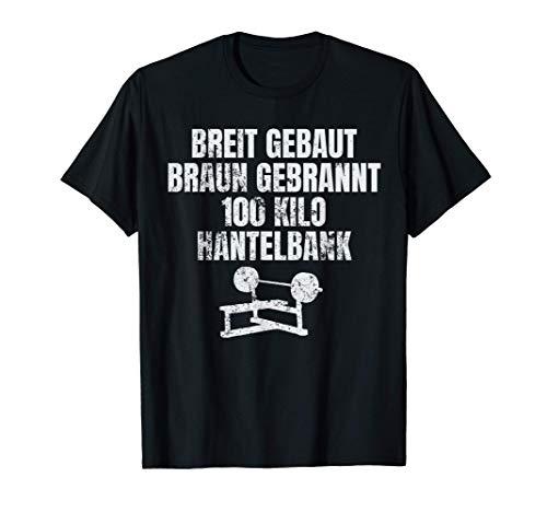 Herren Pumper Kraftsport Breit gebaut 100 Kilo Hantelbank Solarium T-Shirt