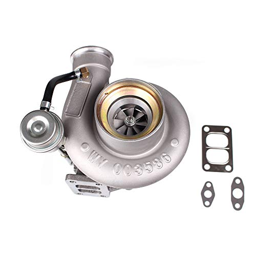 Diesel Turbocharger HX35 HX35W Turbo with Internal Wastegate Turbine Fit for 99 to 02 Dodge Ram 2500 3500 5.9L Truck 6BT Cummins Engine (HX35/HX35W 3592766)