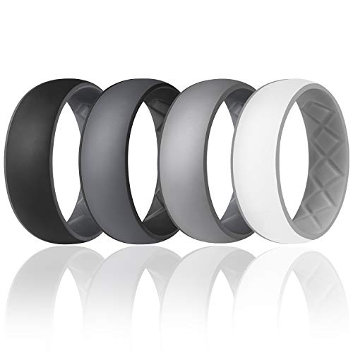Egnaro Inner Arc Ergonomic Breathable Design,Silicone Wedding Ring for...